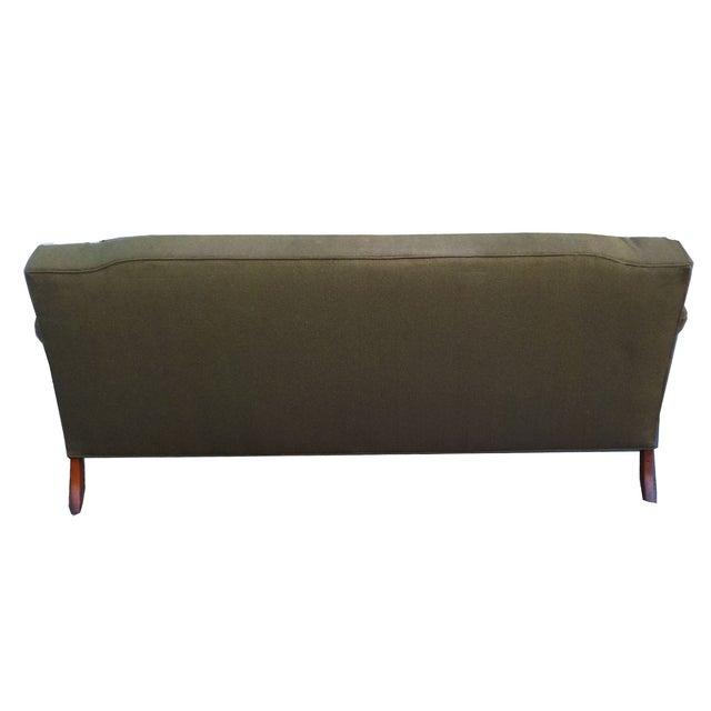 Hollywood Regency Vintage Wood Trimmed Sofa - Image 5 of 7