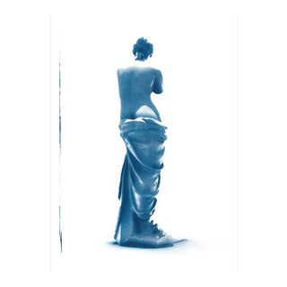 Venus De Milo Greek Sculpture Cyanotype Print