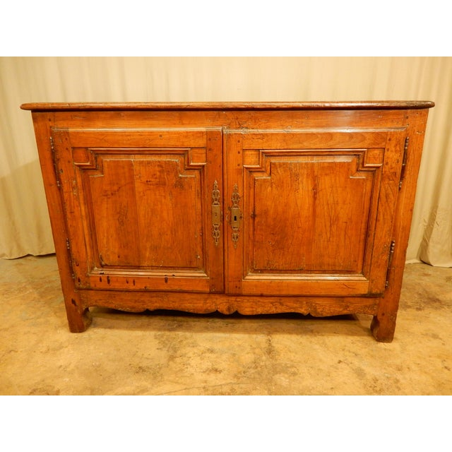 Brown 18th Century French Provincial Walnut Buffet For Sale - Image 8 of 8