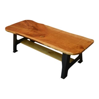 Live Edge Cherry Wood Coffee Table For Sale
