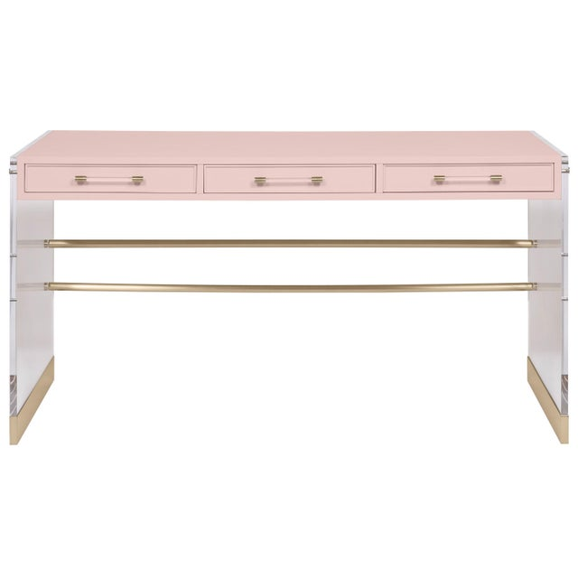 Transitional Casa Cosima Arden Desk with Taper Leg Base, Honey Huy For Sale - Image 3 of 3
