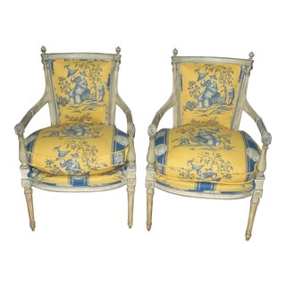 18th Century French Directoire Chairs - a Pair For Sale