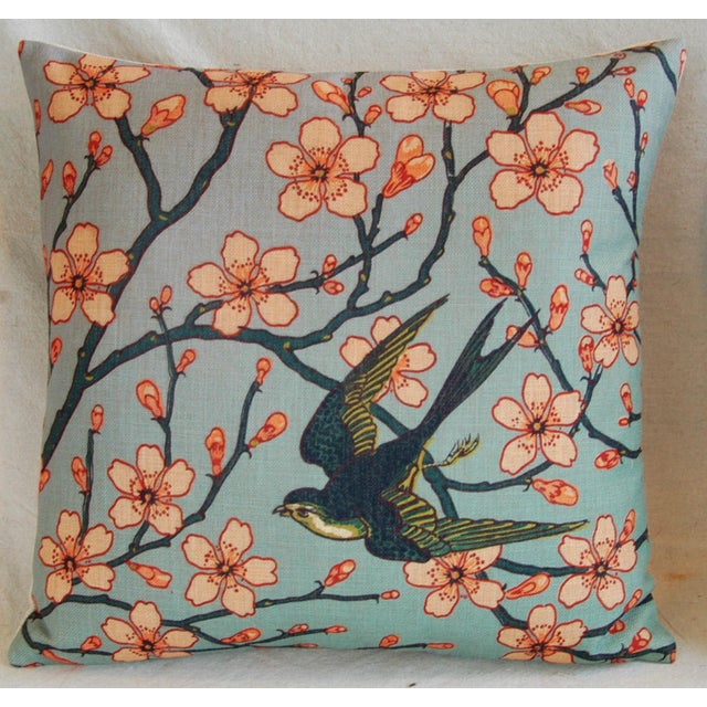 Magnolia Blossoms/Swallow Down & Feather Pillows - a Pair For Sale - Image 10 of 12