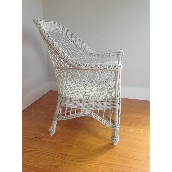 Vintage Wicker Chair For Sale - Image 6 of 12 - Vintage Wicker Chair Chairish