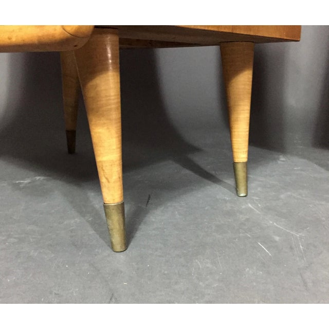 Pair Italian 1960 Parchment and Maple Nightstands For Sale In New York - Image 6 of 9