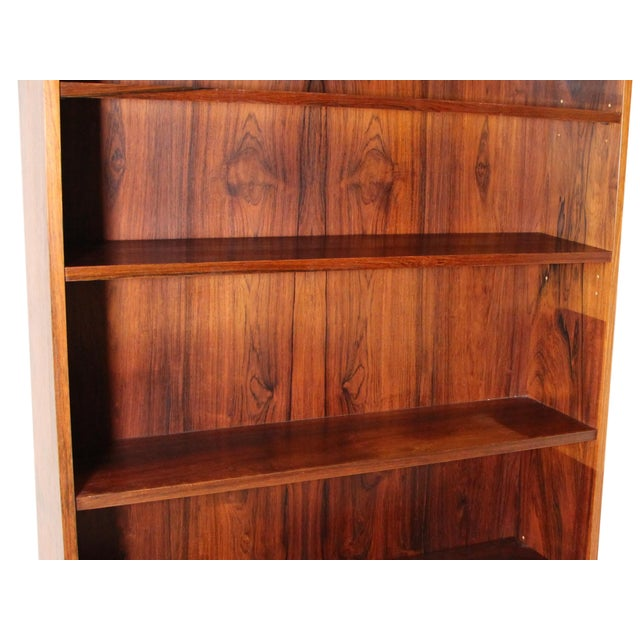Mid Century Danish Rose Wood Bookcase For Sale - Image 4 of 5