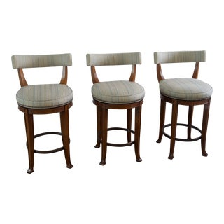 Newbury Swivel Curved Back Counter Stools- Set of 3 For Sale