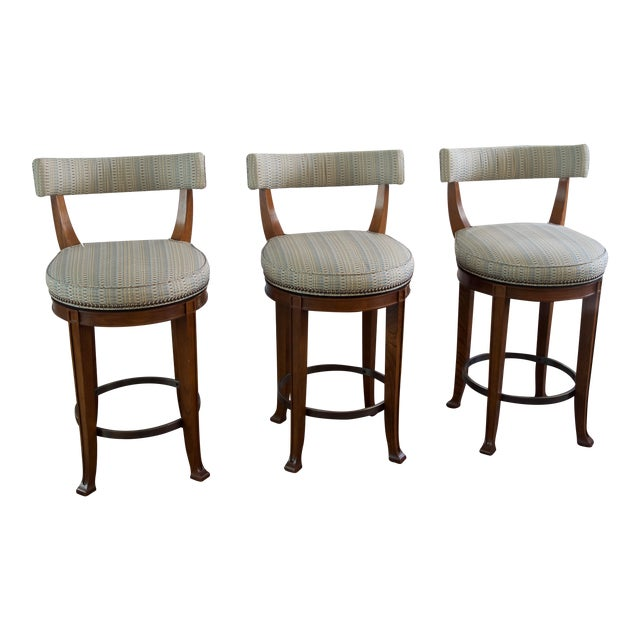 Remarkable Newbury Swivel Curved Back Counter Stools Set Of 3 Gmtry Best Dining Table And Chair Ideas Images Gmtryco