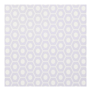 Sample - Schumacher Queen B Wallpaper in Lavender For Sale