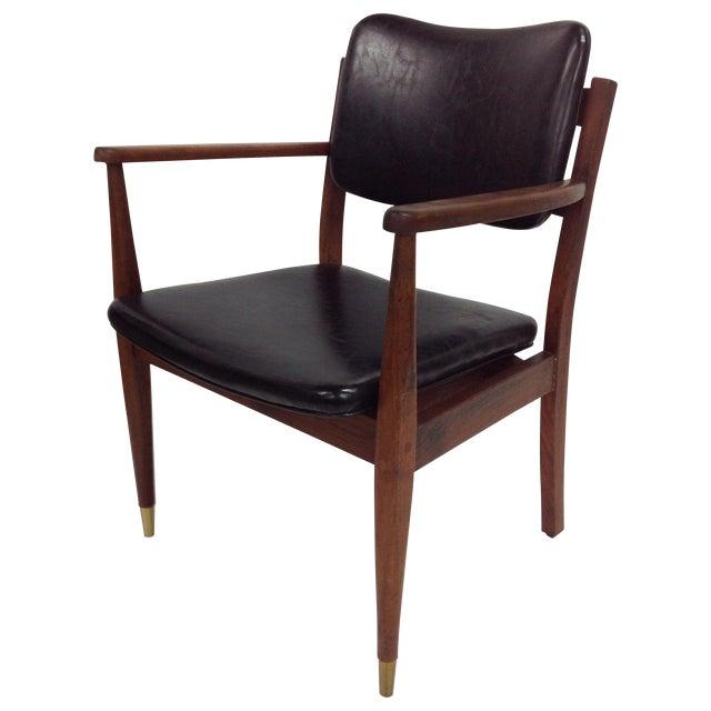 Danish Modern Oiled Walnut Executive Chair - Image 1 of 5