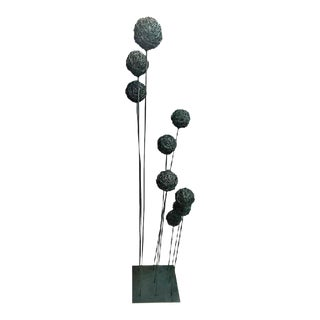 Mid 20th Century Harry Bertoia Style Modernist Kinetic Wire Ball Sculpture For Sale