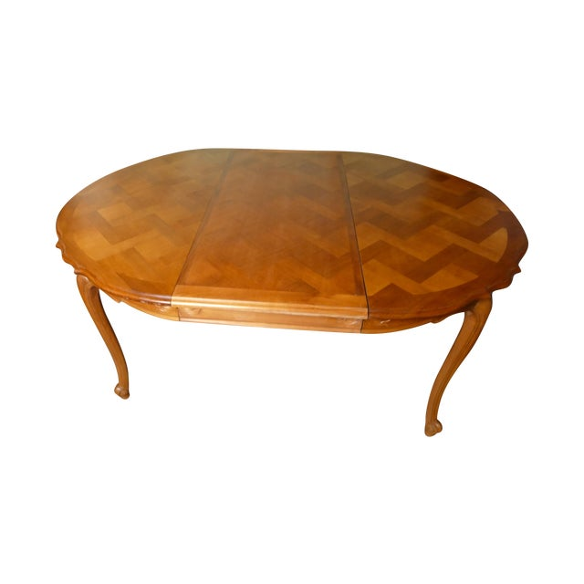French Cherry Draw-Leaf Table - Image 1 of 6