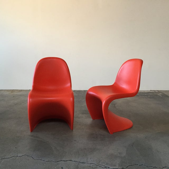 Vitra Red 'Panton' Dining Chair - Image 4 of 4