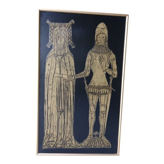Mid Century Modern 60's Art Medieval Renaissance Large Faux Bois Relief Artwork For Sale