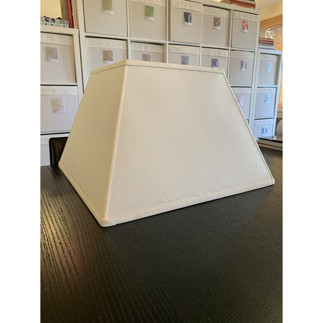 Square Tapered Linen Lamp Shade by Reborn Antiques For Sale In Los Angeles - Image 6 of 6