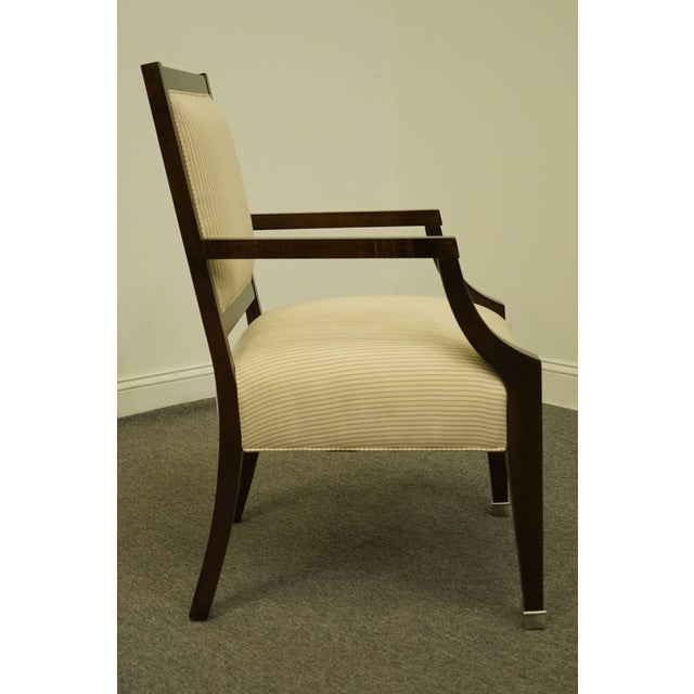 Brown Vintage Lexington Furniture Nautica Home Collection Upholstered Accent Arm Chair For Sale - Image 8 of 10