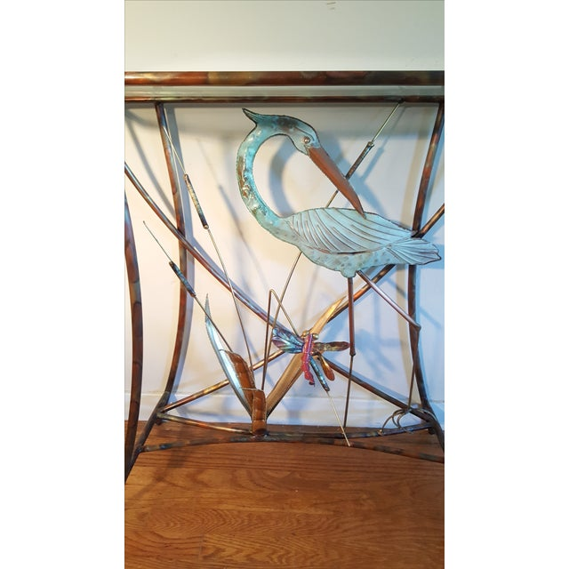 Mid-Century Modern Jere Style Brass Console - Image 3 of 8