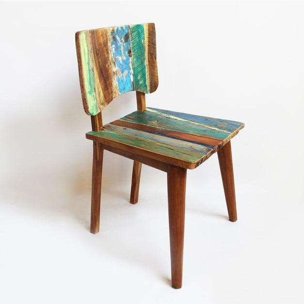 Reclaimed Boat Wood Chair - Image 2 of 4