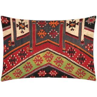"Nalbandian - 1960s Turkish Mid-Century Lumbar Pillow - 20"" X 29"" For Sale"