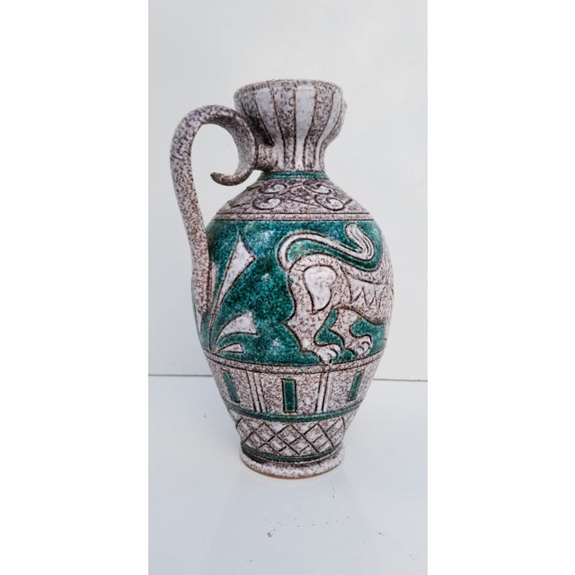 Italian Hand Painting Studio Pottery Vase For Sale - Image 4 of 12