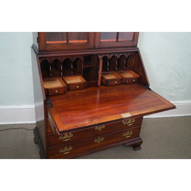 Statton Solid Cherry Chippendale Secretary Desk - Image 8 of 10