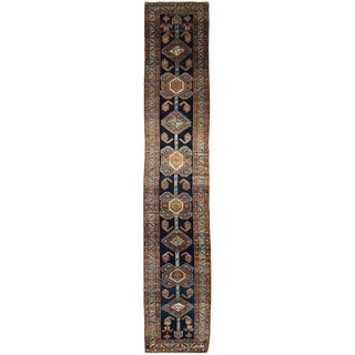 Antique Persian Heriz Hall Runner For Sale