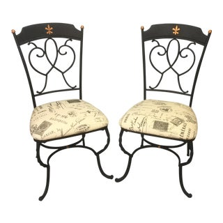 1990s Vintage French Chairs- A Pair For Sale