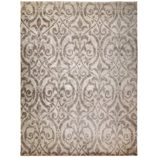 "Contemporary Hand Knotted Luxury Bamboo Silk Rug - 8'9""x 11' 9"" For Sale"