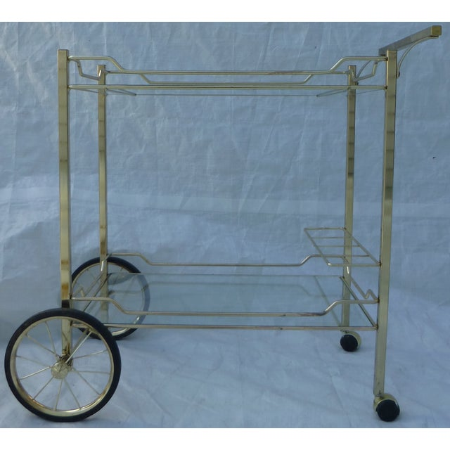 Hollywood Regency Styled Bar Cart - Image 2 of 11