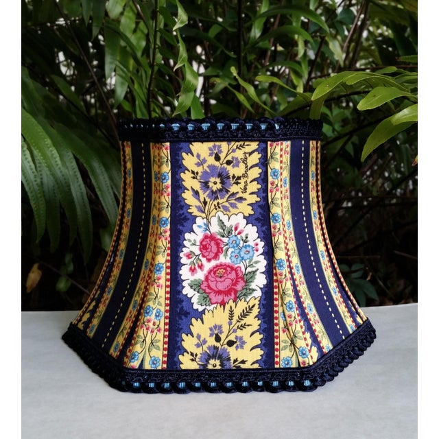 Vera Bradley Fabric Lampshade Hex Bell For Sale - Image 11 of 11