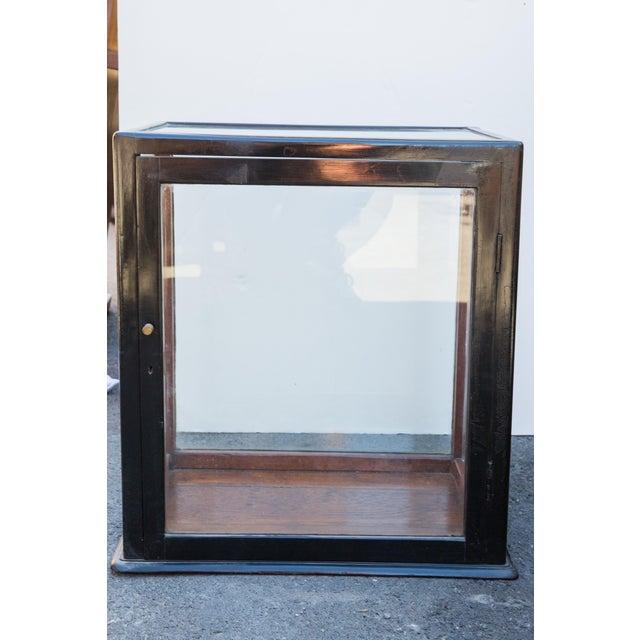 Ebonized Curio Cabinet For Sale - Image 9 of 9