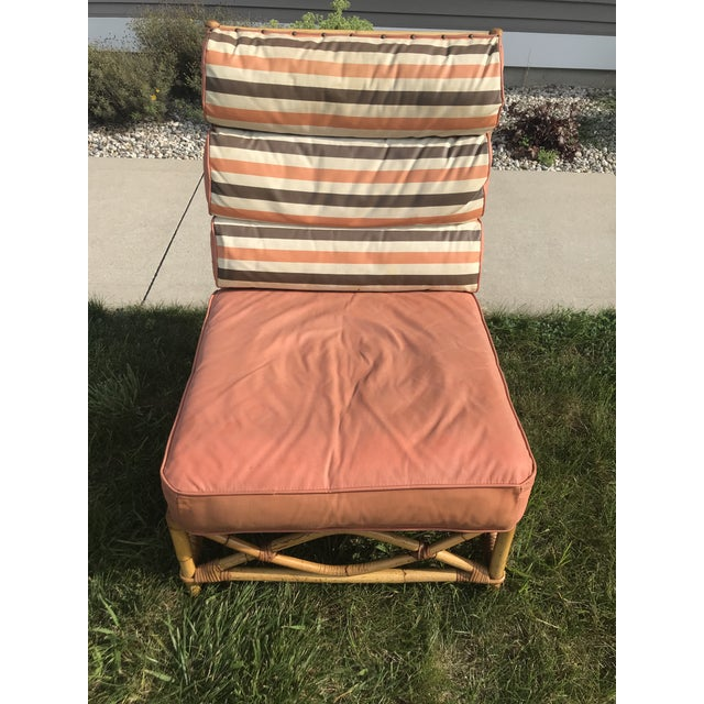 Vintage Mid Century Ficks Reed Patio Outdoor Bentwood Bamboo Sofa, 3 Pieces For Sale - Image 9 of 11