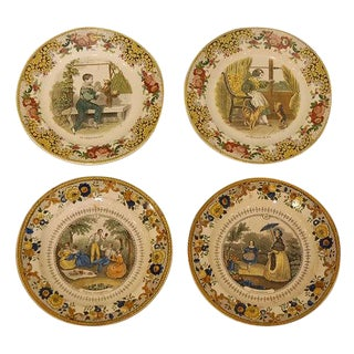 French Decorative Plate - Sold Individual For Sale