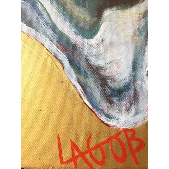 "Contemporary Oysters Paintings on Canvas ""Gold Coast I, Ii, Iii"" by Leigh-Anne O'Brien (Lagob) - Set of 3 For Sale - Image 11 of 13"