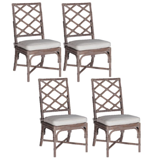 Gabby Kennedy Dining Chairs With Custom Schumacher Cushions - Set of 4 - Image 7 of 7