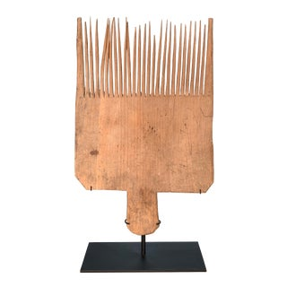 19th Century Flax Carding Comb For Sale