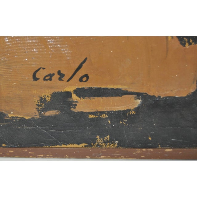 Carlo of Hollywood Vintage Abstract Painting 1960s - Image 3 of 7
