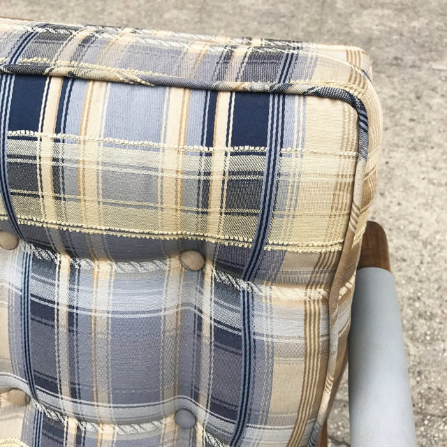 Mid-Century Modern Harvey Probber Style Upholstered Club Chairs- A Pair For Sale - Image 10 of 11