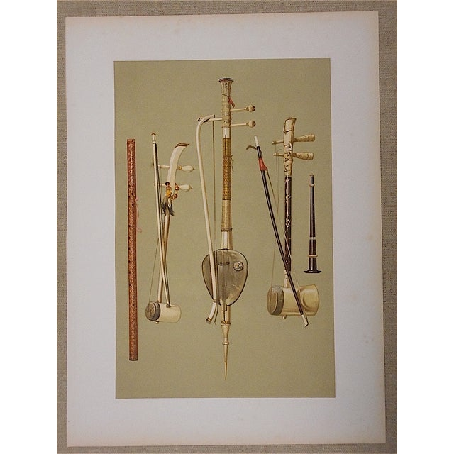 Antique Lithograph of Musical Instruments, Siam - Image 2 of 4