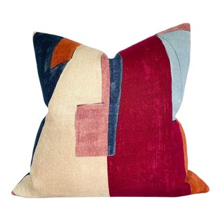District Pillow Cover in Claret For Sale