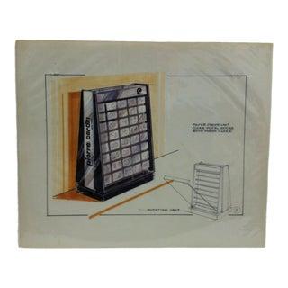 "1980s ""Pierre Cardin - Paris - New York"" Displayco East Original Advertising Drawing For Sale"
