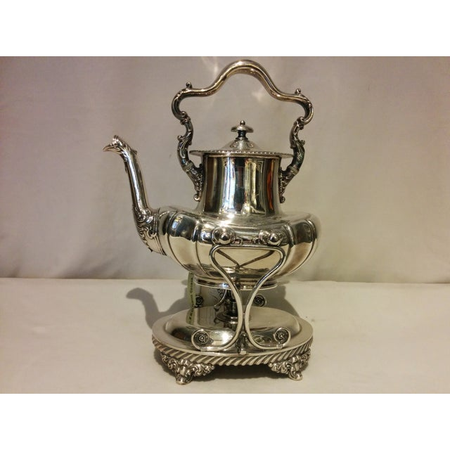 American Silverplate Teapot w/ Stand & Burner - Image 11 of 11