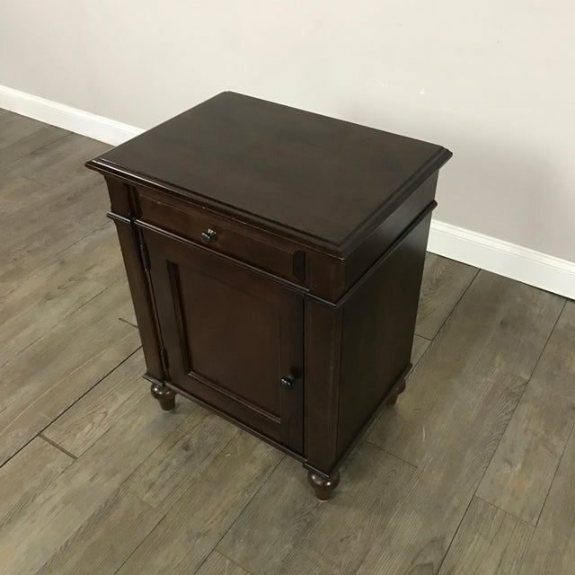Cane-Lined Traditional Nightstand - Image 3 of 11