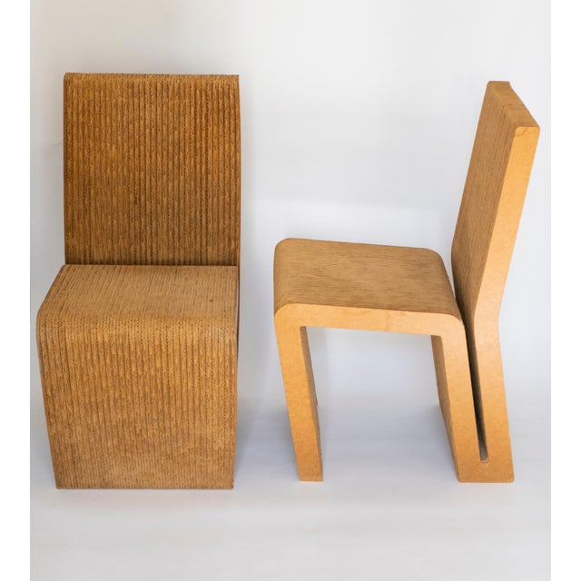 Frank Gehry Easy Edges Cardboard Chair by Frank Gehry, Early 1970s Model For Sale - Image 4 of 11