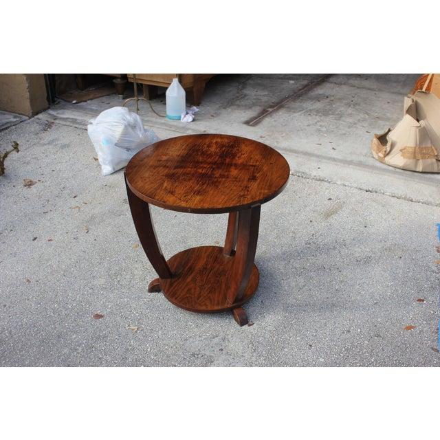 Beautiful French Art Deco Coffee Table or Side Table Exotic Walnut, circa 1940s For Sale - Image 5 of 10