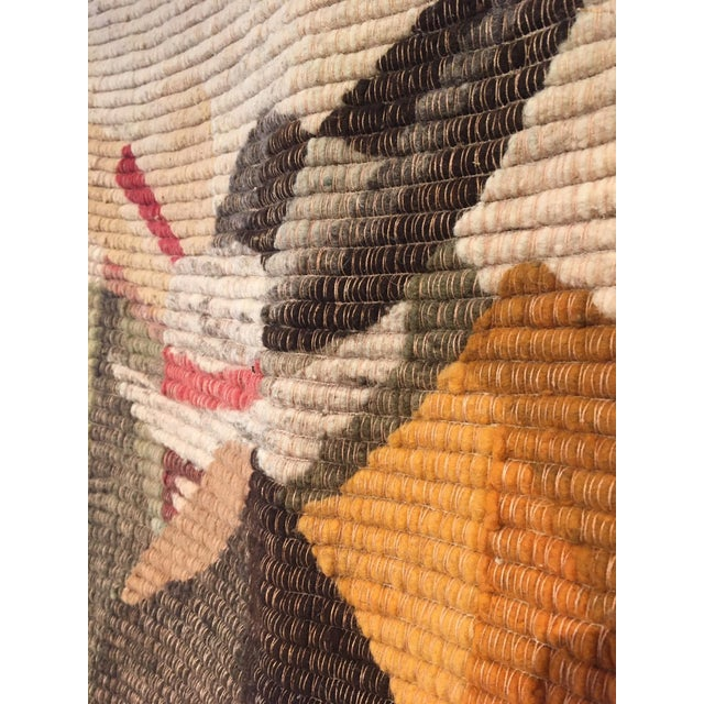 Mid 20th Century Peruvian Handmade Wool Tapestry / Throw For Sale - Image 5 of 6