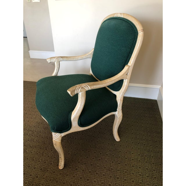 """Contemporary Contemporary Wood Frame """"Twig-Open Arm"""" French Bergere Chairs For Sale - Image 3 of 4"""