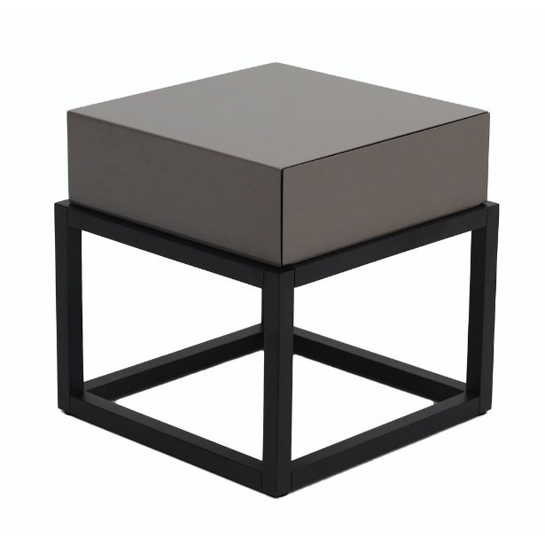 Stone Gloss and Dark Oak Side Table - Image 1 of 3
