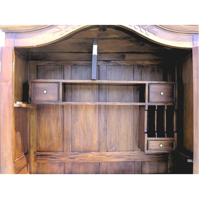Victorian Antique Style Armoire With Hidden Desk - Image 5 of 10