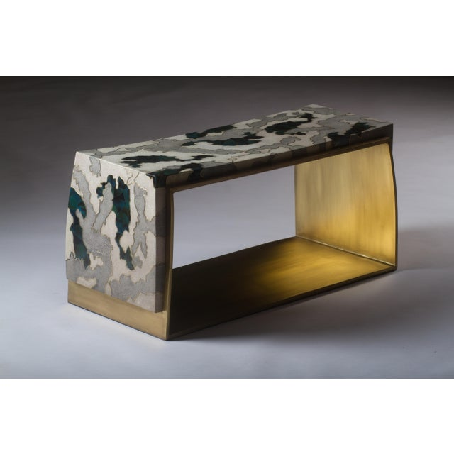 The Camouflage-Pattern Inlaid Stool originates from the original Laurens Stool designed by R&Y Augousti, see image at end...